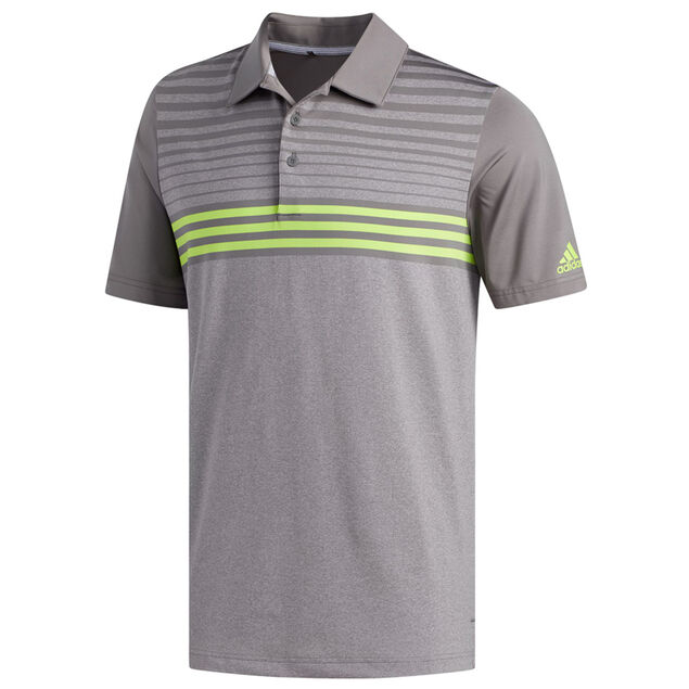5d521a7c adidas Golf Ultimate 365 3-Stripe Heather Polo Shirt from american golf