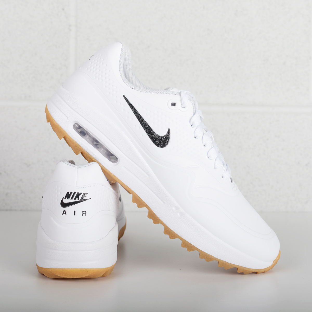 Nike Air Max 1 Golf shoes, including unique