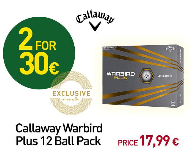 Callaway Warbird Plus 12 Ball Pack